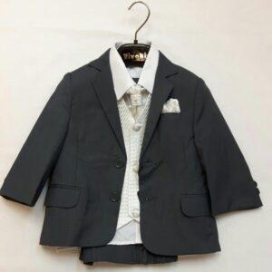 Vivaki grey suit with white sparkle under