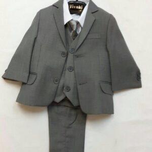 Vivaki slim fit grey suit