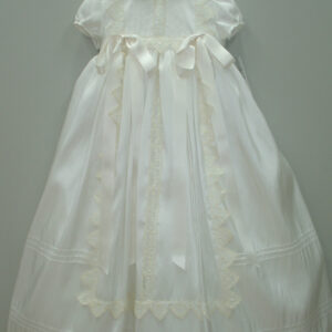 Ivory christening gown and hat 4915-0