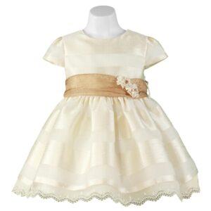 Miranda 0202-V Beige Dress