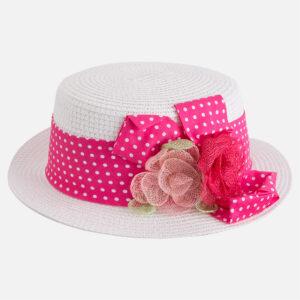 Mayoral 10416 Fuchsia Floral Hat