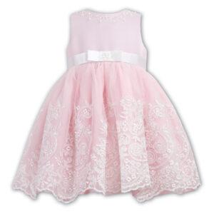 Sarah Louise 070017E Pink And Ivory Ceremonial Balerina Length Dress