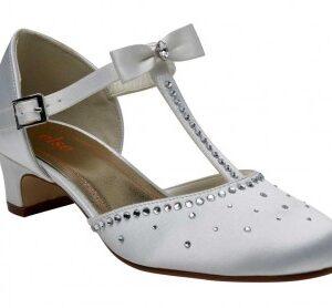 Rainbow Club Lemonade White T Bar Style Communion Shoes
