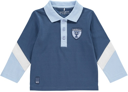 Mitch And Son Airforce Blue Diagonal Sleeve Polo - MS1017 Preston