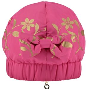 A Dee gold leaf hat in hot pink style number w181910 Ally-0