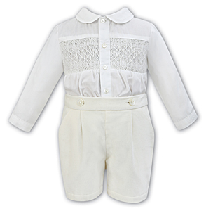Sarah Louise Twin Set In Ivory - 011253