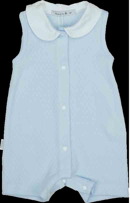 Babidu Pale Blue Baby Grow - 17240