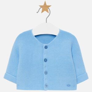 Mayoral Basic plain cardigan for newborn boy cloud - 2302