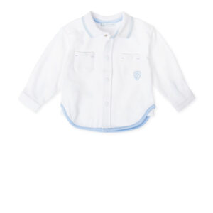 Tutto Piccolo white/sky blue shirt - 7010W19