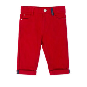 Tutto Piccolo red trousers 7112W19