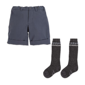 Tutto Piccolo bermuda shorts with socks 7342W19