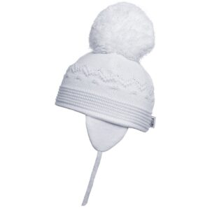 Satila White Large Pom Hat - C61515 - 100 Belle