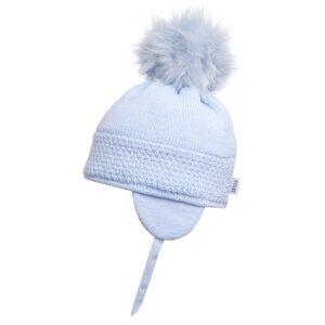Satila Light Blue Big Pom Hat - C71817 - 453 Daisy