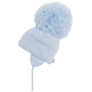 Satila Soft Blue Large Pom Hat - C81508 - 450 Tuva