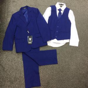 Electric blue 5pc suit