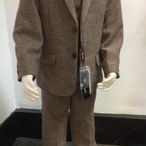 5pc brown herringbone suit