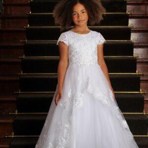 Communion Dress Long Length by Sweetie Pie - UK4022
