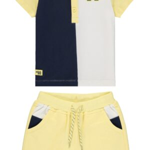 Mitch And Son Polo and Short Set in Lemon - MS1351 Blair