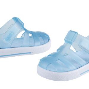 Igor star velcro sandal blue