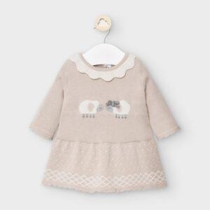 Mayoral Knit dress for newborn girl - 02855-070