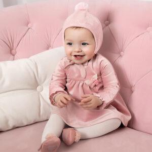 Mayoral Velvet dress for newborn girl - 02862-094