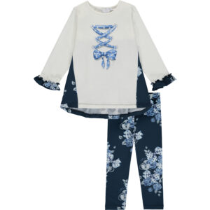A Dee Ribbon tunic & legging set - Helena W204516