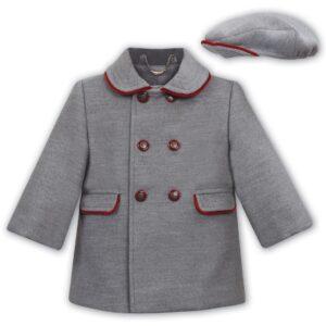 Sarah Louise 3/4 Coat & Cap - 012195 GRY/RD