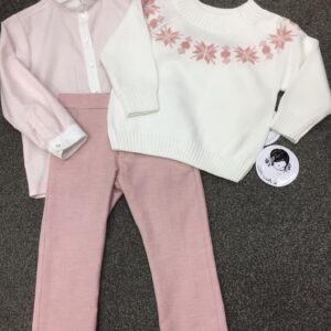 Sarah Louise Sweater, Shirt and Trouser Set - 012159-19-22 IV/APR