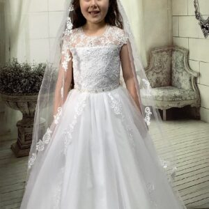 Communion Dress Long Length by Sweetie Pie - UK4036