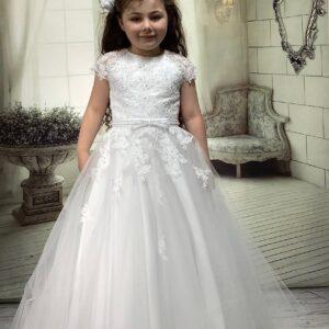 Communion Dress Long Length by Sweetie Pie - UK4041