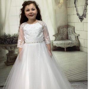 Communion Dress Long Length by Sweetie Pie - UK4044