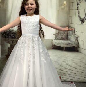 Communion Dress Long Length by Sweetie Pie - UK4053