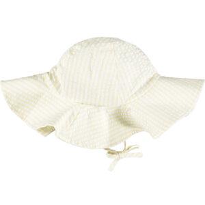 Stripe seersucker floppy sun hat Kerris (Lemon Pie)