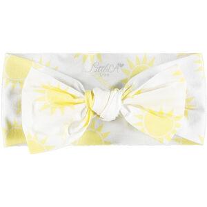 Sunshine print bow on sunshine print jersey headband Kassandra (Bright)