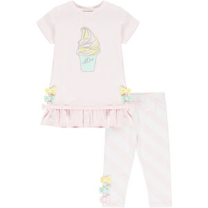 -Olivia diagonal stripe legging set