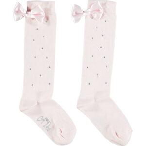 Othina pink sparkle knee high socks