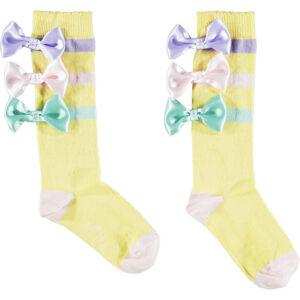 0rr ribbon bow knee high socks