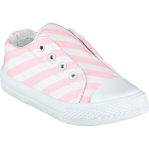 laceless printed canvas trainer pale pink